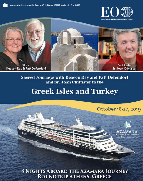 Sacred Journey to the Greek Isles, Italy and Rome In the Footsteps of St. Peter and St. Paul with guest speaker Sr. Joan Chittister, OSB